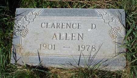 ALLEN, CLARENCE D. - Sheridan County, Nebraska | CLARENCE D. ALLEN - Nebraska Gravestone Photos