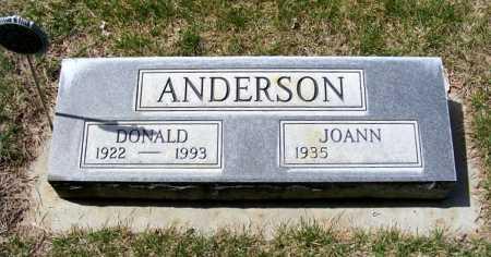 ANDERSON, DONALD - Sheridan County, Nebraska   DONALD ANDERSON - Nebraska Gravestone Photos