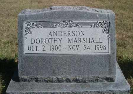 ANDERSON, DOROTHY - Sheridan County, Nebraska | DOROTHY ANDERSON - Nebraska Gravestone Photos