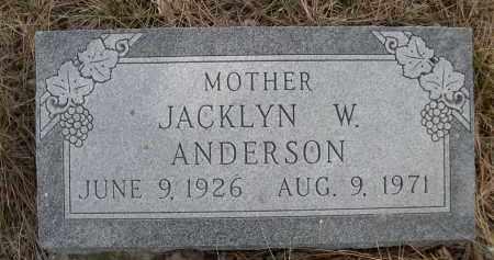 ANDERSON, JACKLYN W. - Sheridan County, Nebraska | JACKLYN W. ANDERSON - Nebraska Gravestone Photos