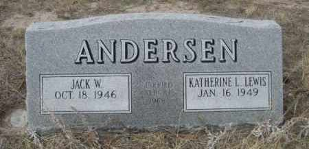 LEWIS ANDERSON, KATHERINE L. - Sheridan County, Nebraska | KATHERINE L. LEWIS ANDERSON - Nebraska Gravestone Photos