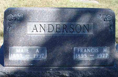 ANDERSON, FRANCIS H. - Sheridan County, Nebraska | FRANCIS H. ANDERSON - Nebraska Gravestone Photos