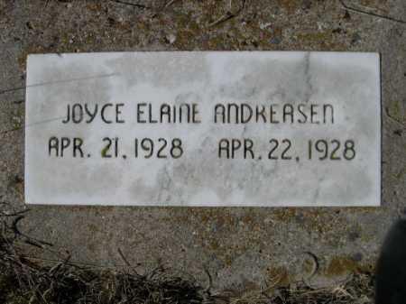 ANDREASEN, JOYCE ELAINE - Sheridan County, Nebraska   JOYCE ELAINE ANDREASEN - Nebraska Gravestone Photos