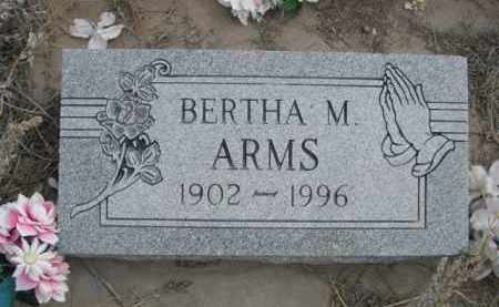 ARMS, BERTHA M. - Sheridan County, Nebraska | BERTHA M. ARMS - Nebraska Gravestone Photos