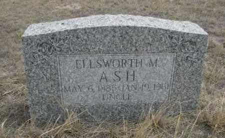 ASH, ELLSWORTH M. - Sheridan County, Nebraska | ELLSWORTH M. ASH - Nebraska Gravestone Photos