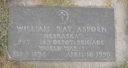 ASPDEN, WILLIAM RAY - Sheridan County, Nebraska | WILLIAM RAY ASPDEN - Nebraska Gravestone Photos