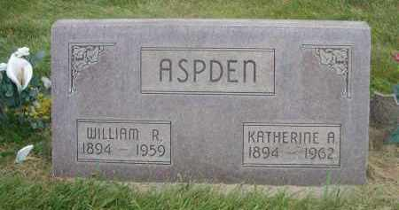 ASPDEN, WILLIAM R. - Sheridan County, Nebraska | WILLIAM R. ASPDEN - Nebraska Gravestone Photos