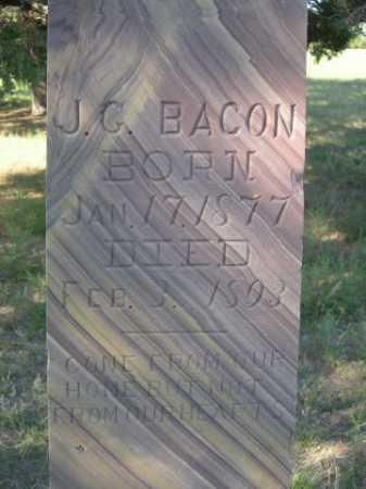 BACON, J. G. - Sheridan County, Nebraska | J. G. BACON - Nebraska Gravestone Photos