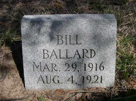 BALLARD, BILL - Sheridan County, Nebraska | BILL BALLARD - Nebraska Gravestone Photos