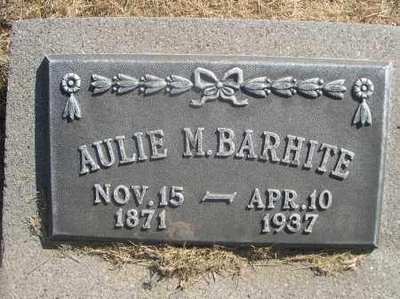 BARHITE, AULIE M. - Sheridan County, Nebraska   AULIE M. BARHITE - Nebraska Gravestone Photos