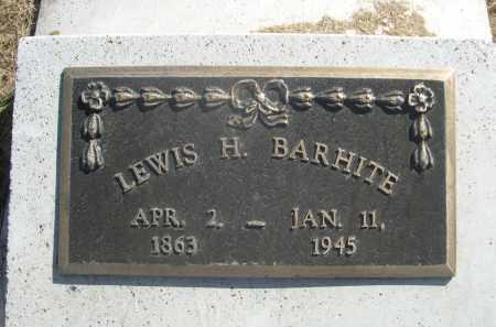 BARHITE, LEWIS H. - Sheridan County, Nebraska | LEWIS H. BARHITE - Nebraska Gravestone Photos