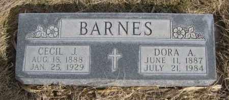 BARNES, CECIL J. - Sheridan County, Nebraska | CECIL J. BARNES - Nebraska Gravestone Photos