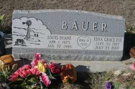 FOX BAUER, EDNA GRACE - Sheridan County, Nebraska | EDNA GRACE FOX BAUER - Nebraska Gravestone Photos