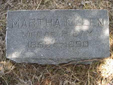 BAY, MARTHA ELLEN - Sheridan County, Nebraska | MARTHA ELLEN BAY - Nebraska Gravestone Photos
