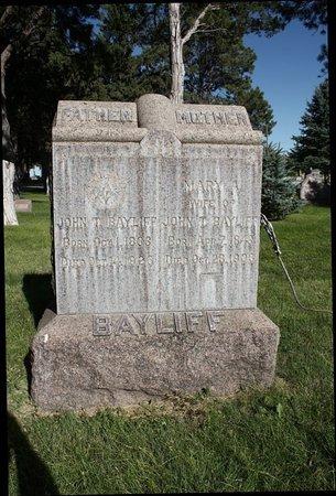 BAYLIFF, JOHN THOMAS - Sheridan County, Nebraska | JOHN THOMAS BAYLIFF - Nebraska Gravestone Photos
