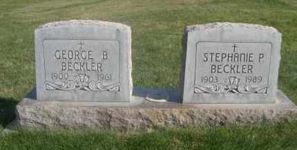 BECKLER, STEPHANIE P. - Sheridan County, Nebraska | STEPHANIE P. BECKLER - Nebraska Gravestone Photos