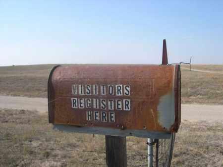 *BEGUIN CEMETERY, REGISTRATION BOX - Sheridan County, Nebraska | REGISTRATION BOX *BEGUIN CEMETERY - Nebraska Gravestone Photos