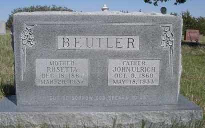 BEUTLER, ROSETTA - Sheridan County, Nebraska   ROSETTA BEUTLER - Nebraska Gravestone Photos