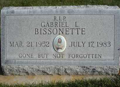 BISSONETTE, GABRIEL L. - Sheridan County, Nebraska | GABRIEL L. BISSONETTE - Nebraska Gravestone Photos
