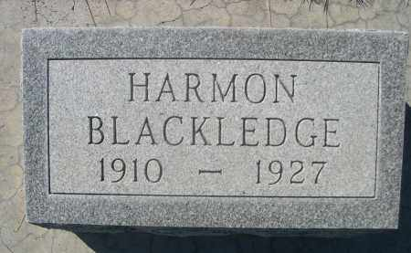 BLACKLEDGE, HARMON - Sheridan County, Nebraska | HARMON BLACKLEDGE - Nebraska Gravestone Photos