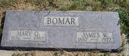 BOMAR, JAMES W. - Sheridan County, Nebraska | JAMES W. BOMAR - Nebraska Gravestone Photos