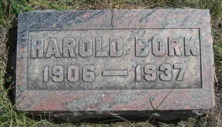 BORK, HAROLD - Sheridan County, Nebraska | HAROLD BORK - Nebraska Gravestone Photos