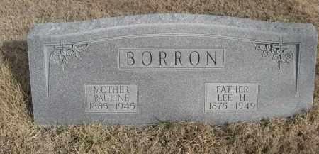BORRON, PAULINE - Sheridan County, Nebraska | PAULINE BORRON - Nebraska Gravestone Photos