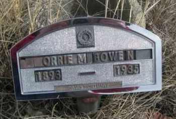 BOWEN, ORRIE M. - Sheridan County, Nebraska | ORRIE M. BOWEN - Nebraska Gravestone Photos