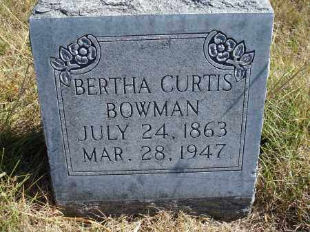 BOWMAN, BERTHA - Sheridan County, Nebraska | BERTHA BOWMAN - Nebraska Gravestone Photos