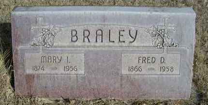 BRALEY, FRED D. - Sheridan County, Nebraska | FRED D. BRALEY - Nebraska Gravestone Photos