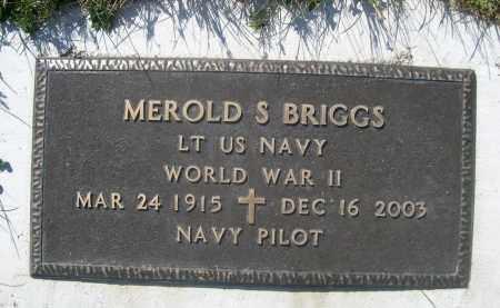 BRIGGS, MEROLD S. - Sheridan County, Nebraska | MEROLD S. BRIGGS - Nebraska Gravestone Photos