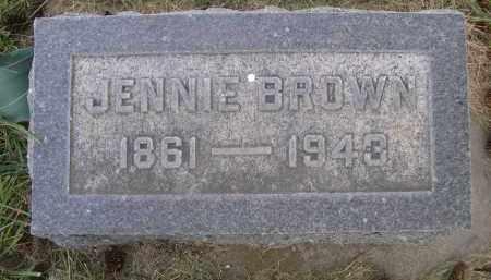 BROWN, JENNIE - Sheridan County, Nebraska | JENNIE BROWN - Nebraska Gravestone Photos