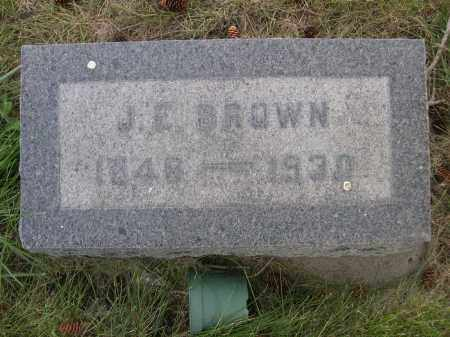 BROWN, J. E. - Sheridan County, Nebraska | J. E. BROWN - Nebraska Gravestone Photos
