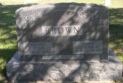 BROWN, JENNIE - Sheridan County, Nebraska   JENNIE BROWN - Nebraska Gravestone Photos