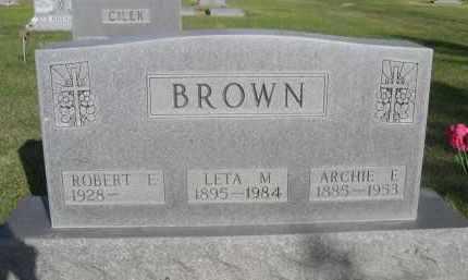 BROWN, LETA M. - Sheridan County, Nebraska | LETA M. BROWN - Nebraska Gravestone Photos