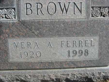 BROWN, VERA A. - Sheridan County, Nebraska | VERA A. BROWN - Nebraska Gravestone Photos