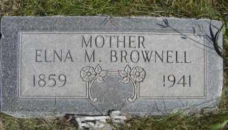 BROWNELL, ELNA M. - Sheridan County, Nebraska | ELNA M. BROWNELL - Nebraska Gravestone Photos