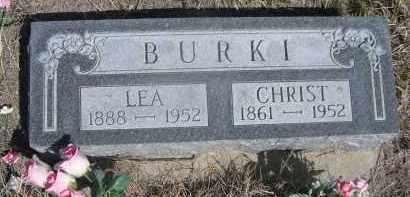 BURKI, LEA - Sheridan County, Nebraska   LEA BURKI - Nebraska Gravestone Photos