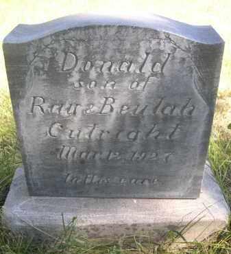 CULRIGHT, DONALD - Sheridan County, Nebraska | DONALD CULRIGHT - Nebraska Gravestone Photos