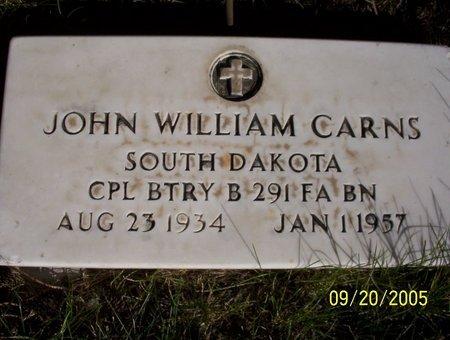 CARNS, JOHN WILLIAM - Sheridan County, Nebraska | JOHN WILLIAM CARNS - Nebraska Gravestone Photos