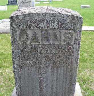 CARNS, WILLARD S. - Sheridan County, Nebraska   WILLARD S. CARNS - Nebraska Gravestone Photos