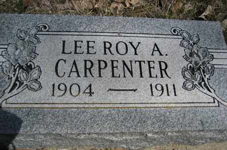 CARPENTER, LEE ROY A. - Sheridan County, Nebraska | LEE ROY A. CARPENTER - Nebraska Gravestone Photos