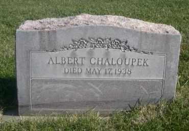 CHALOUPEK, ALBERT - Sheridan County, Nebraska | ALBERT CHALOUPEK - Nebraska Gravestone Photos
