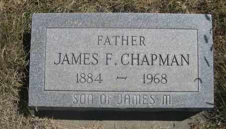 CHAPMAN, JAMES F. - Sheridan County, Nebraska | JAMES F. CHAPMAN - Nebraska Gravestone Photos