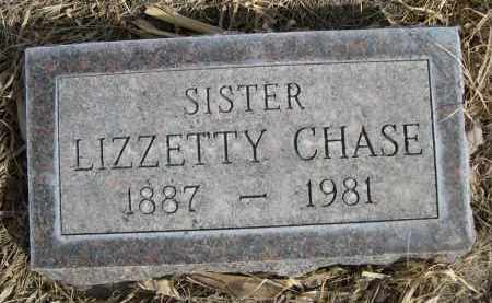 CHASE, LIZZETTY - Sheridan County, Nebraska | LIZZETTY CHASE - Nebraska Gravestone Photos