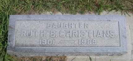 NORDIN CHRISTIANS, RUTH - Sheridan County, Nebraska | RUTH NORDIN CHRISTIANS - Nebraska Gravestone Photos