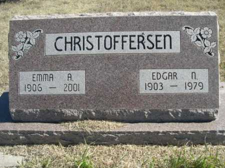 CHRISTOFFERSEN, EDGAR N. - Sheridan County, Nebraska | EDGAR N. CHRISTOFFERSEN - Nebraska Gravestone Photos