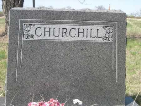 CHURCHILL, FAMILY - Sheridan County, Nebraska   FAMILY CHURCHILL - Nebraska Gravestone Photos