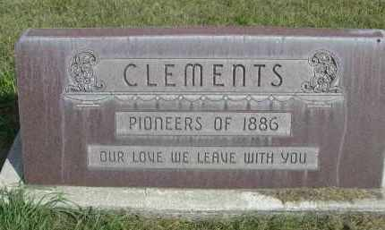 CLEMENTS, FAMILY - Sheridan County, Nebraska | FAMILY CLEMENTS - Nebraska Gravestone Photos