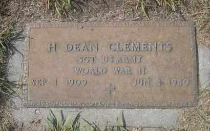 CLEMENTS, H. DEAN - Sheridan County, Nebraska | H. DEAN CLEMENTS - Nebraska Gravestone Photos